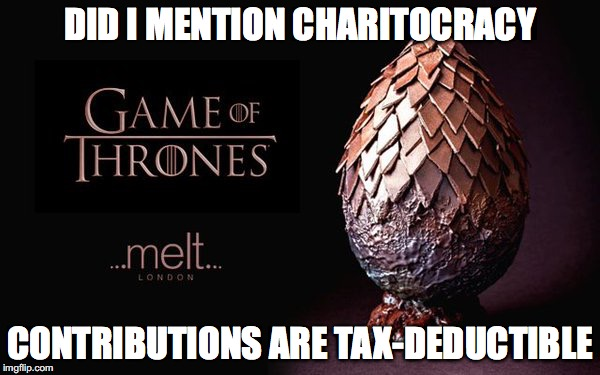 Did I mention, Charitocracy contributions are tax-deductible?