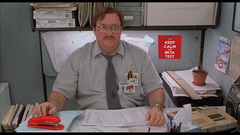 If I don't get my red stapler back...