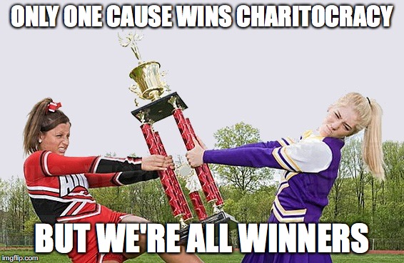 Only one cause wins Charitocracy, but we're all winners