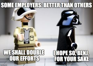 Some employers: better than others