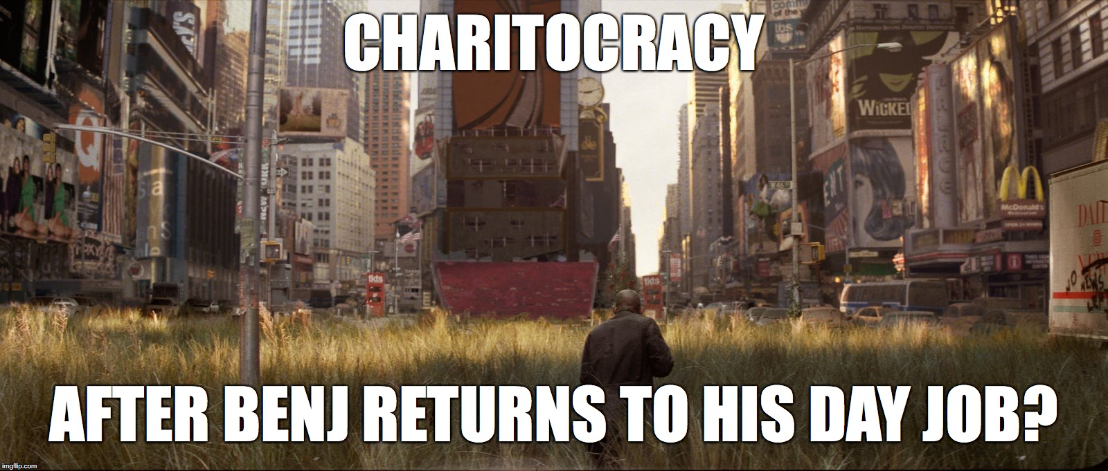 Charitocracy after Benj returns to his day job?