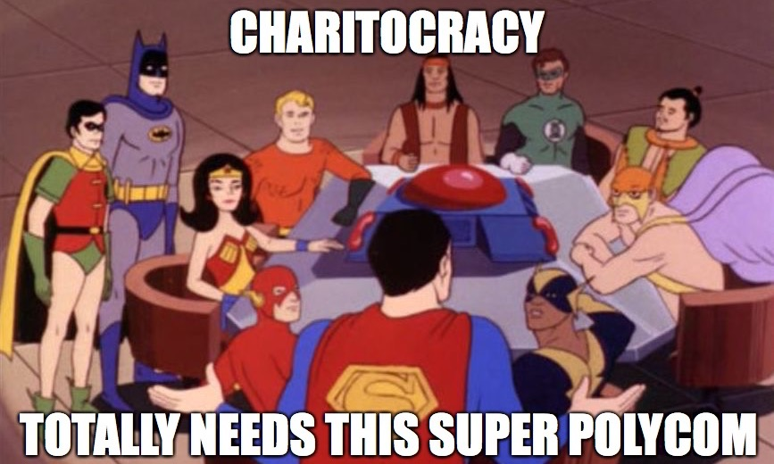 Charitocracy totally needs this Super Polycom