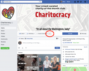 How to Invite Friends' Likes - Charitocracy Page