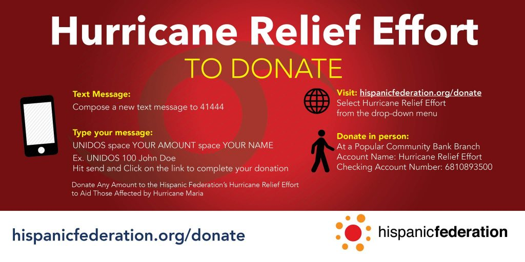 Hispanic Federation's UNIDOS Disaster Relief Fund