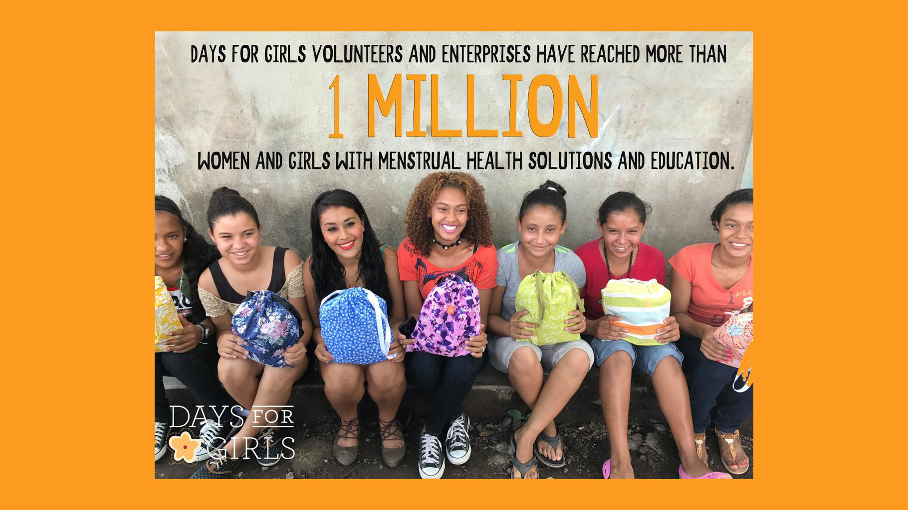 Days for Girls: 1 Million Reached