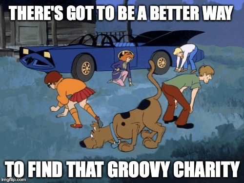 There's got to be a better way to search that groovy charity