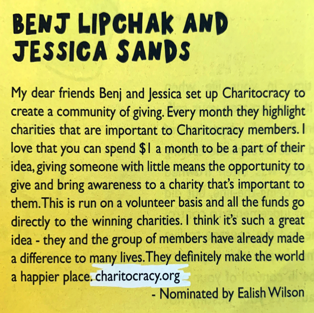 Benj Lipchak and Jessica Sands as Everyday Heroes