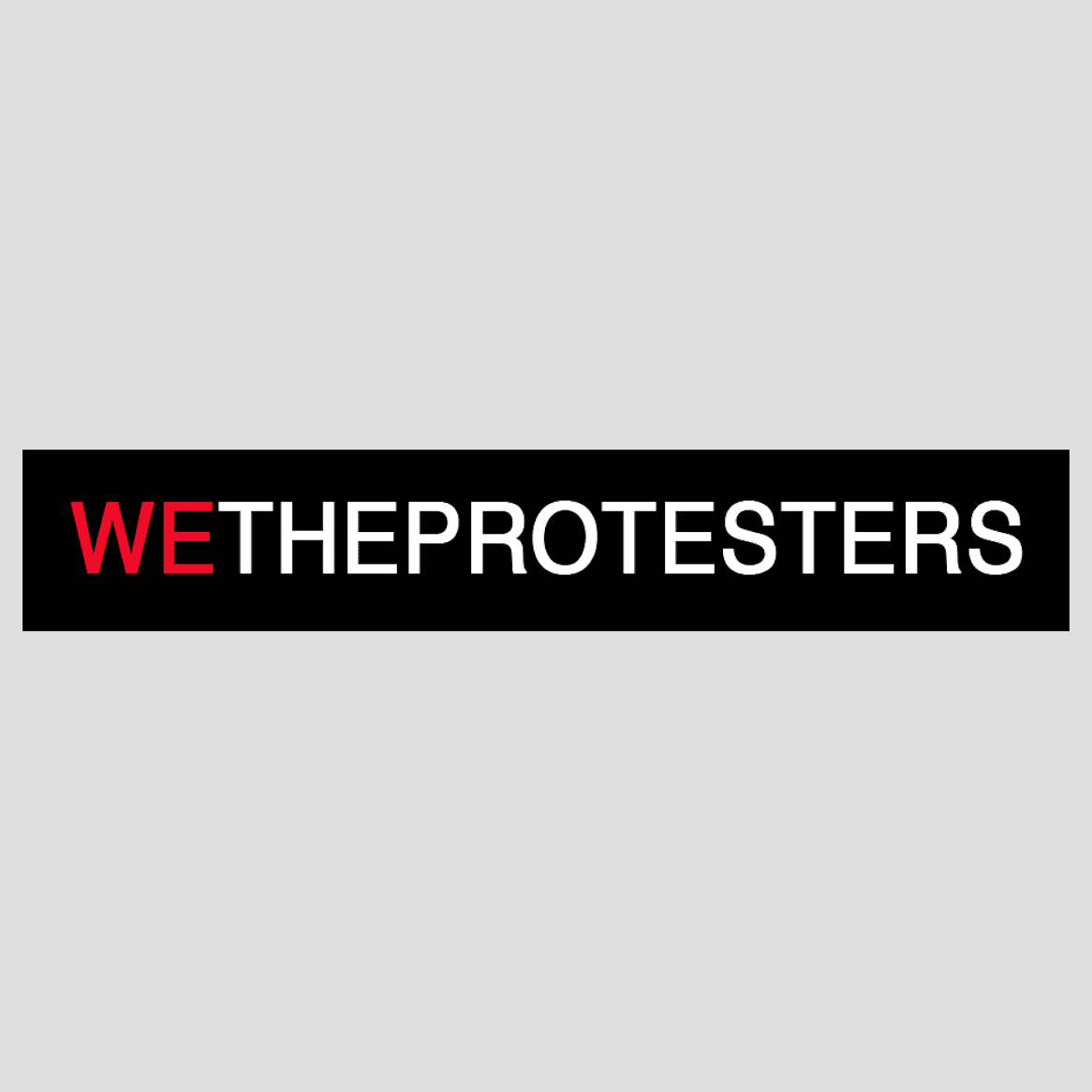 We The Protesters logo