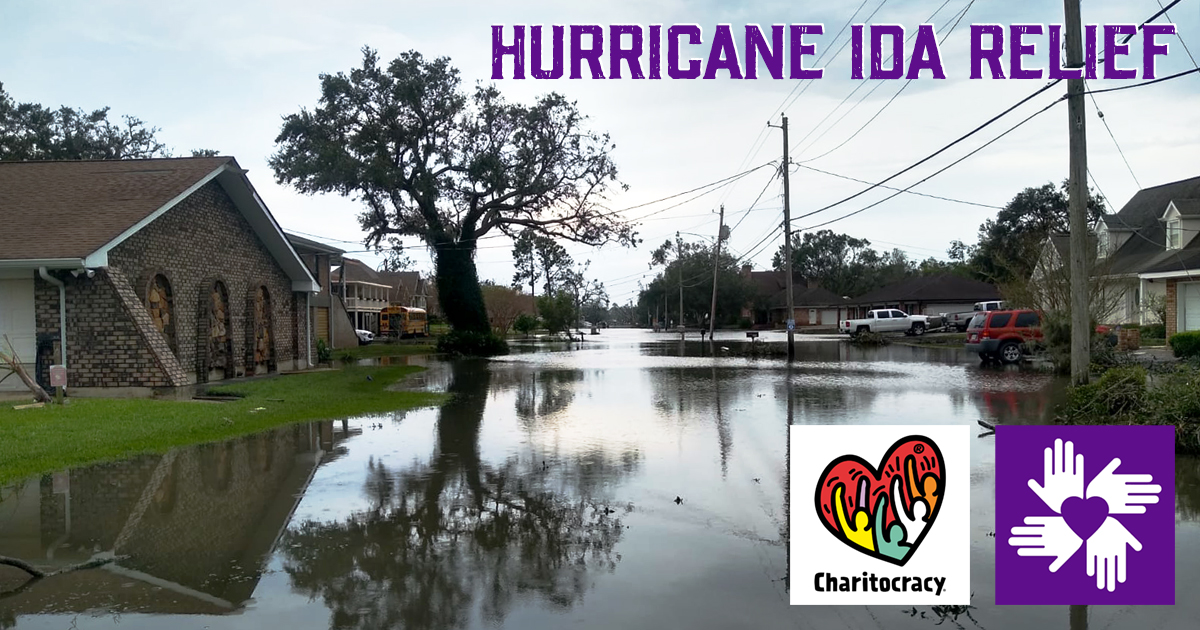 Nominee Hurricane Ida Relief @ All Hands and Hearts Charitocracy Facebook Share